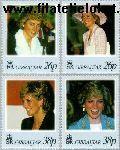 Gibraltar gib 818#821  1998 Prinses Diana  Postfris
