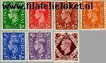 Groot-Brittannië grb 221#226  1941 Koning George VI  Postfris