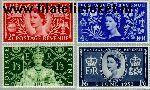 Groot-Brittannië grb 274#277  1953 Koningin Elizabeth- Kroning  Postfris