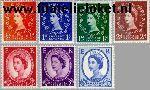 Groot-Brittannië grb 318#324x  1959 Koningin Elizabeth Meervoudig- Grafiet  Postfris