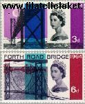 Groot-Brittannië grb 382#383  1964 Forth Road Bridge  Postfris
