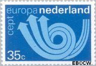 Nederland NL 1030  1973 C.E.P.T.- Posthoorn 35 cent  Gestempeld