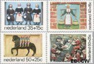 Nederland NL 1079#1082  1975 Gevelstenen  cent  Gestempeld