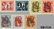 Nederland NL 114#120  1923 Opruimingsuitgifte  cent  Gestempeld