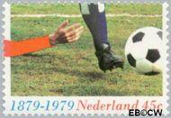 Nederland NL 1182  1979 Georganiseerd voetbal 45 cent  Gestempeld