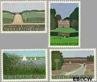 Nederland NL 1194#1197  1980 Landschappen  cent  Gestempeld