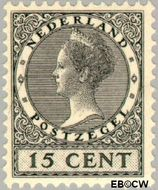 Nederland NL 137  1924 Koningin Wilhelmina- Type 'Veth' 15 cent  Gestempeld