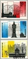 Nederland NL 1372#1374  1987 Industriële Monumenten  cent  Gestempeld