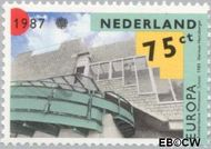 Nederland NL 1377  1987 C.E.P.T.- Moderne architectuur 75 cent  Gestempeld
