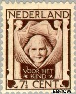 Nederland NL 142  1924 Kinderkopje tussen engelen 7½+3½ cent  Postfris