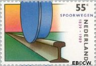 Nederland NL 1430  1989 Spoorwegen 55 cent  Postfris