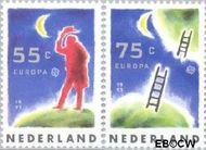 Nederland NL 1475#1476  1991 C.E.P.T.- Europese ruimtevaart  cent  Gestempeld