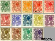 Nederland NL 149#162  1924 Koningin Wilhelmina- Type 'Veth'   cent  Gestempeld