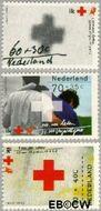 Nederland NL 1532#1534  1992 Rode Kruis  cent  Gestempeld