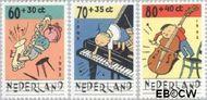 Nederland NL 1538#1540  1992 Muziek maken  cent  Gestempeld