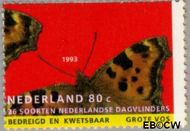 Nederland NL 1554  1993 Natuur en milieu 80 cent  Gestempeld