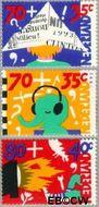 Nederland NL 1575#1577  1993 Kind en media  cent  Gestempeld