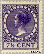 Nederland NL 179  1927 Koningin Wilhelmina- Type 'Veth' 7½ cent  Gestempeld