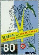 Nederland NL 1812  1999 Vogelbescherming 80 cent  Gestempeld