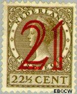 Nederland NL 224  1929 Koningin Wilhelmina- Type Veth, hulpuitgifte 21#22½ cent  Gestempeld