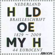 Nederland NL 2623  2009 Lees Mee- Braille 44 cent  Gestempeld