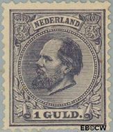 Nederland NL 28  1888 Koning Willem III- 5e emissie 100 cent  Gestempeld