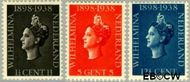 Nederland NL 310#312  1938 Koningin Wilhelmina- Regeringsjubileum   cent  Postfris