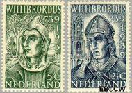 Nederland NL 323#324  1939 Willibrordus, St.   cent  Gestempeld