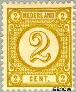 Nederland NL 32a  1894 Drukwerkzegels- cijfer 2 cent  Gestempeld
