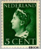 Nederland NL 332  1940 Wilhelmina- Type 'Konijnenburg' 5 cent  Gestempeld