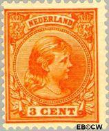 Nederland NL 34  1891 Koningin Wilhelmina- 'Hangend haar' 3 cent  Postfris