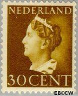 Nederland NL 342  1940 Wilhelmina- Type 'Konijnenburg' 30 cent  Gestempeld