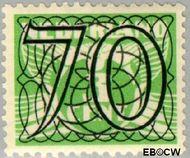 Nederland NL 369  1940 Cijfer type 'Guilloche' of ' tralie' 70 cent  Gestempeld