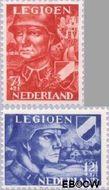 Nederland NL 402#403  1942 Voorzieningsfonds Nederlands legioen   cent  Gestempeld