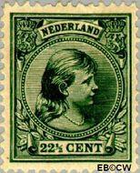 Nederland NL 41  1891 Koningin Wilhelmina- 'Hangend haar' 22½ cent  Gestempeld