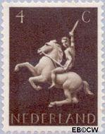 Nederland NL 410  1943 Germaanse symbolen 4 cent  Gestempeld