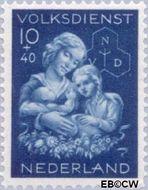 Nederland NL 427  1944 Winterhulp-Volksdienst 10+40 cent  Gestempeld