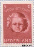 Nederland NL 446  1945 Kinderkopje 5+5 cent  Gestempeld