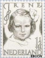 Nederland NL 454  1946 Prinsessen 1½+1½ cent  Gestempeld