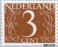 Nederland NL 463  1953 Cijfer type 'van Krimpen' 3 cent  Gestempeld