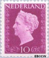Nederland NL 478  1947 Koningin Wilhelmina- Type 'Hartz' 10 cent  Postfris