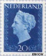 Nederland NL 481  1947 Koningin Wilhelmina- Type 'Hartz' 20 cent  Gestempeld