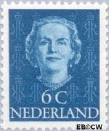 Nederland NL 519  1949 Koningin Juliana- Type 'En Face' 6 cent  Postfris