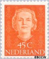 Nederland NL 529  1949 Koningin Juliana- Type 'En Face' 45 cent  Postfris