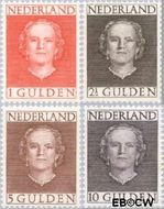 Nederland NL 534#537  1949 Koningin Juliana- Type 'En Face'  cent  Postfris