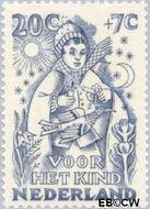 Nederland NL 548  1949 Jaargetijden 20+7 cent  Gestempeld