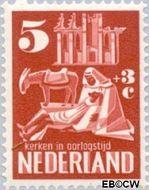 Nederland NL 557  1950 Kerken in Oorlogstijd 5+3 cent  Gestempeld