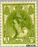 Nederland NL 57  1901 Koningin Wilhelmina- 'Bontkraag' 3 cent  Gestempeld