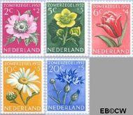 Nederland NL 583#587  1952 Bloemen   cent  Postfris