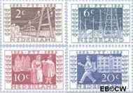 Nederland NL 592#595  1952 Postzegeltentoonstelling I.T.E.P.   cent  Postfris